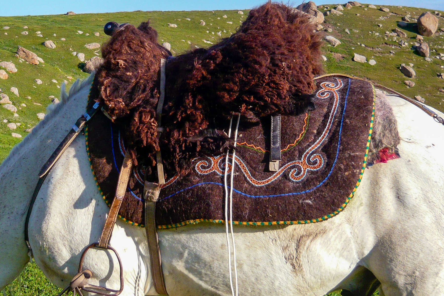 A traditional Kyrgyz saddle