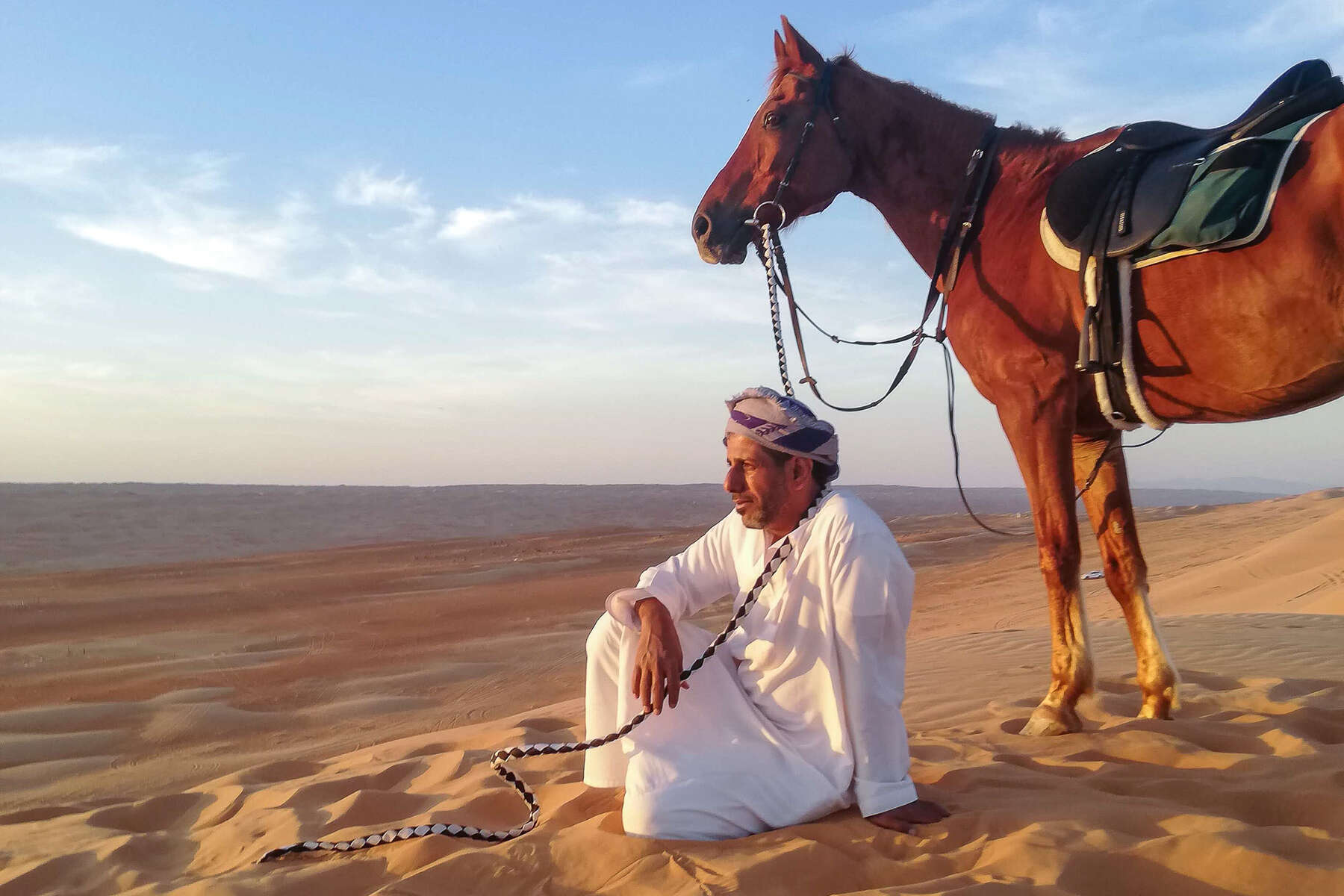Bedouin and horse in Oman