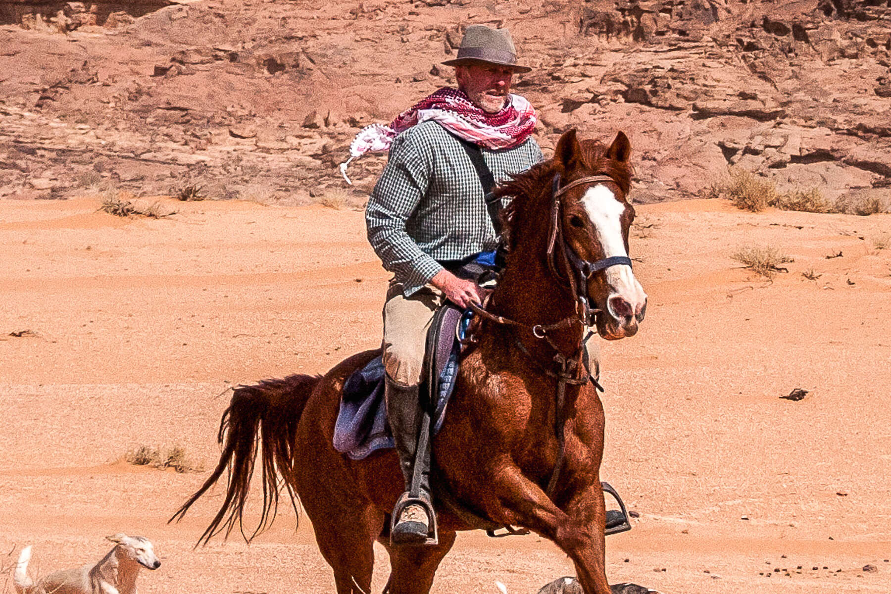Chris Leservoisier horse riding, team Equus Journeys