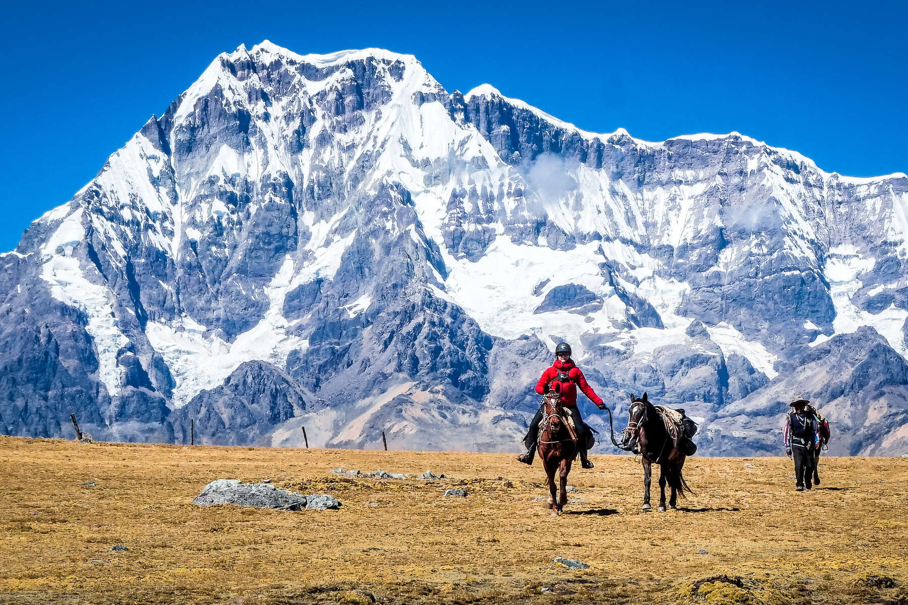 Horseback expedition in the High Inca Trail