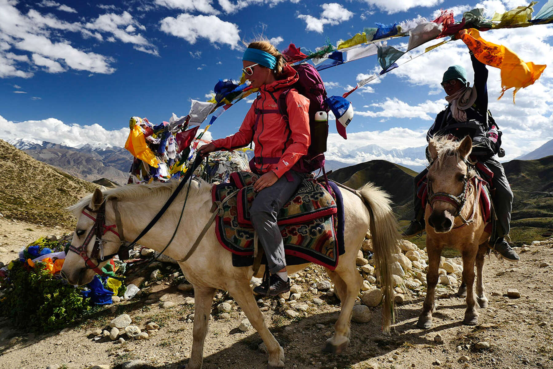 Riders on horseback in Nepal