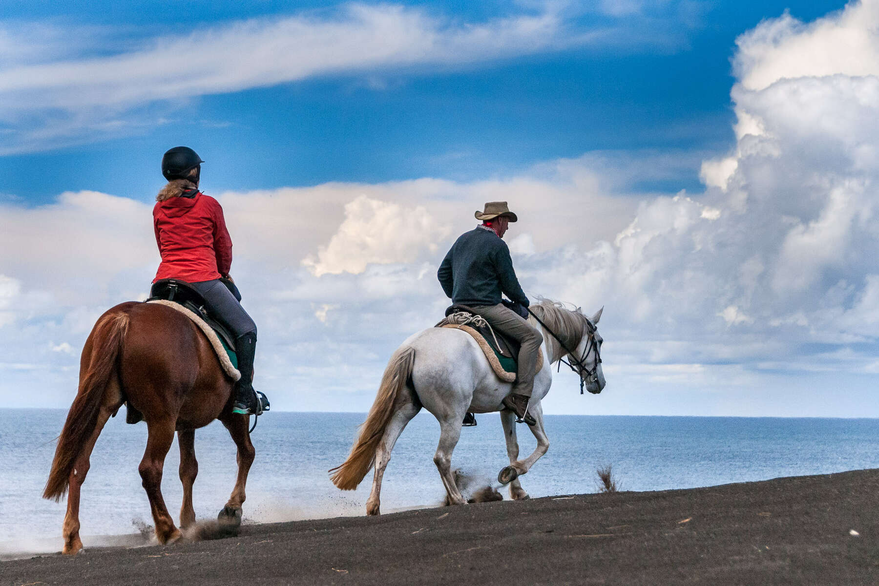 Trail riders in the Azores