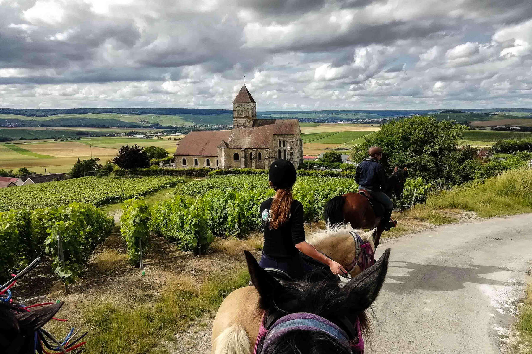 Trail riders in the French region of Alsace