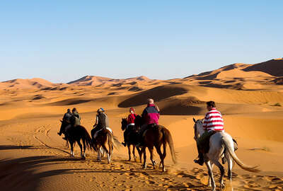 Horeriding in the sahara dunes