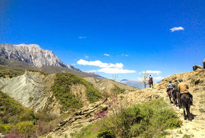 Horseback riding in the mountains of Albania