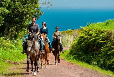 Relaxed riders in the Azores