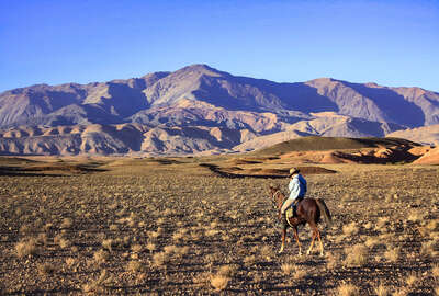 Riding in the valleys of the Atlas mountains in Morocco