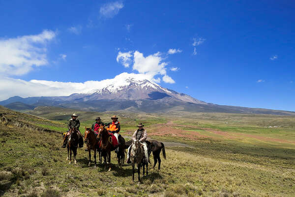 A horseback trail ride through Ecuadors volcanoes