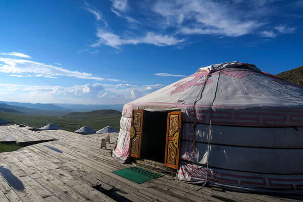 A yurt camp in Mongolia