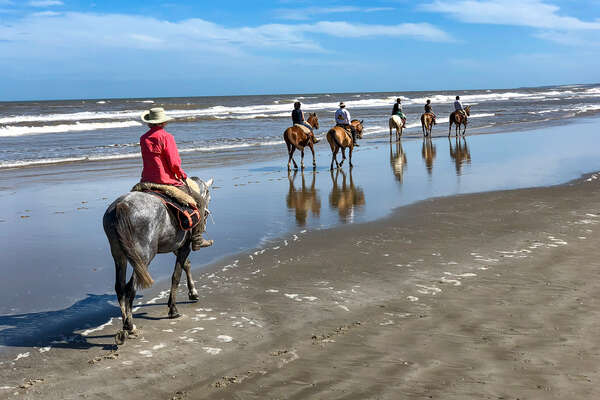 Beach riding in Uruguay