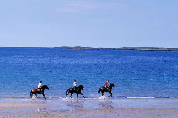 Cantering on the beach in Ireland