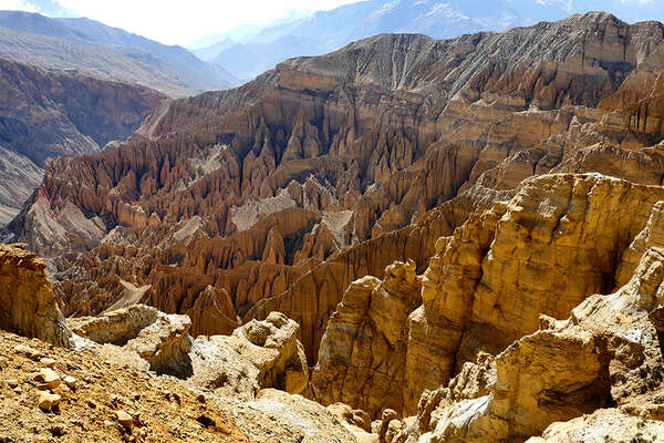Cliffs in Mustang, Nepal