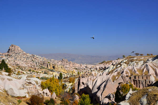 Enjoy spectacular views of Cappadocia from horseback