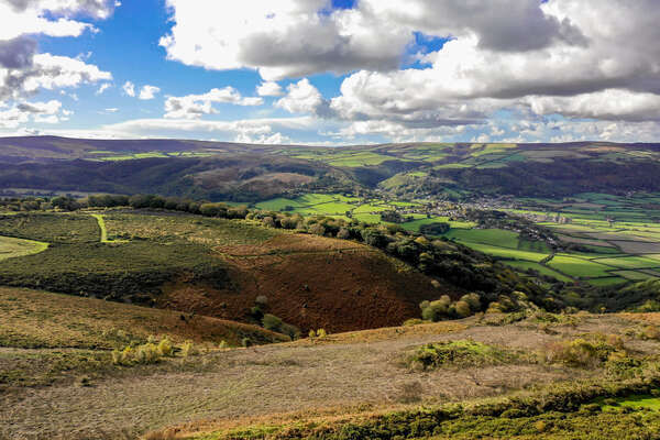 Exmoor national park, England - hills and fields