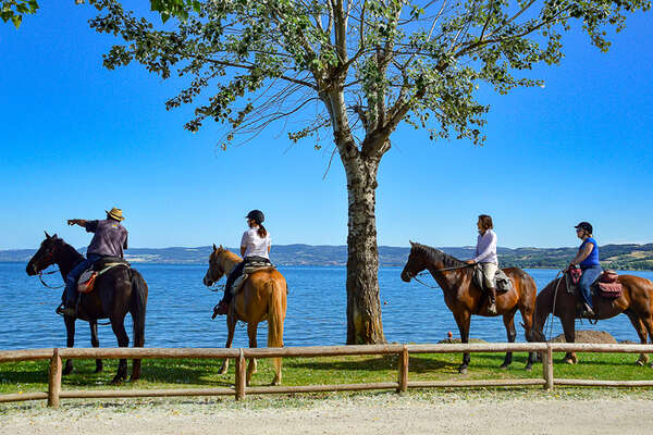 Explore in the saddle the Mezzano and Bolsena Lake
