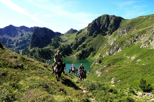 French pyrenees on horseback