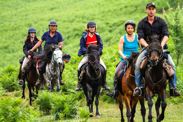 Group of riders cantering Albania