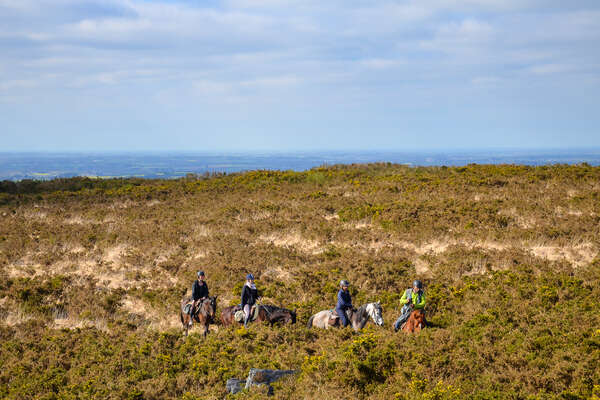 Group of riders riding in Brittany