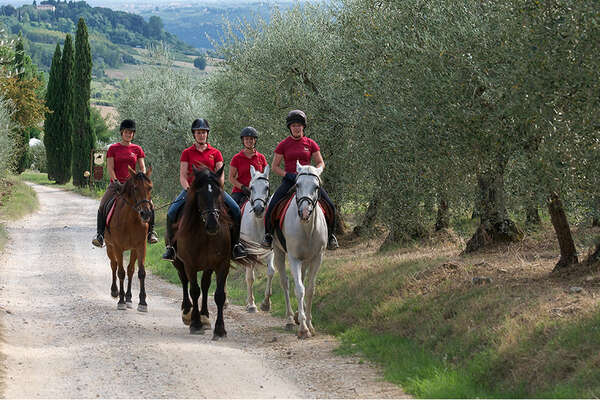 Group riding in Tuscany