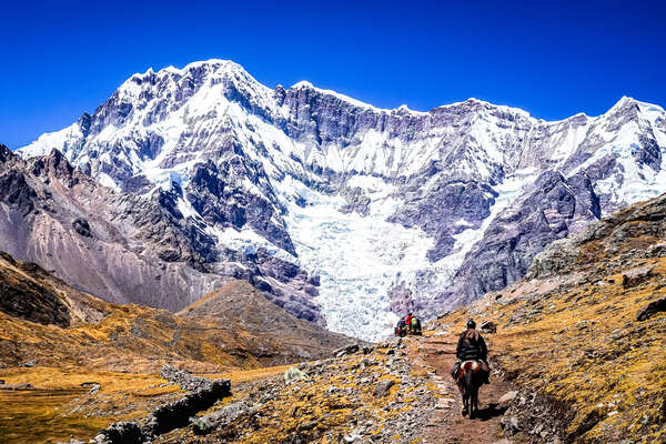 Horesback expedition across the High Inca Trail