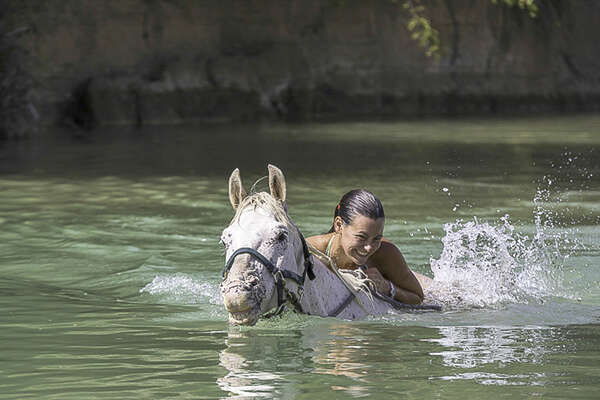Horse and bathing in Italy