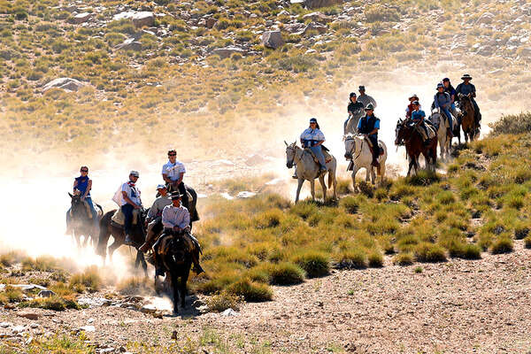Horse riding expedition in Argentina