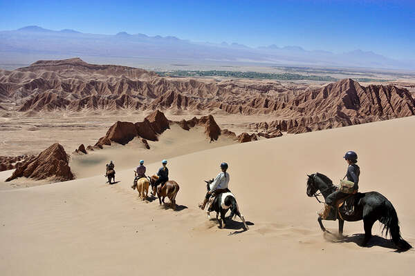 Horse riding in the Atacama Desert Chile