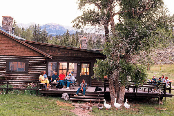 Horse riding ranch stay in Wyoming
