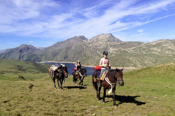 Horse riding trail in The Pyrenees