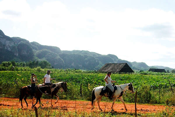 Horse riding trails through western Cuba