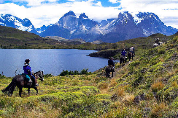 Horse Trail riding in the Torres del Paine
