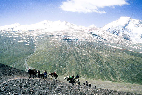 Horseback pack trip and trail Ladakh