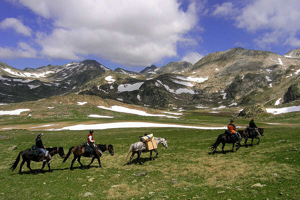 Horseback ride in the french Pyrenees