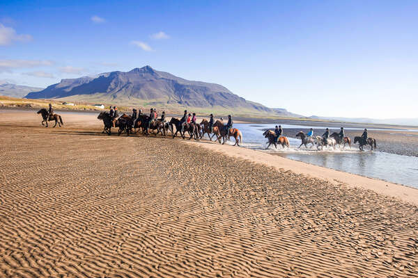 Horseback riding holiday in Iceland, Snaefellsnes Beach Trail