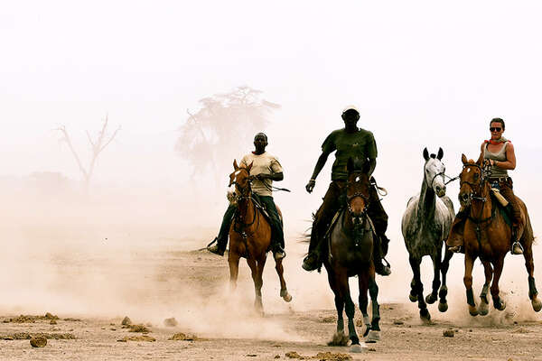 Horseback riding in Tanzania