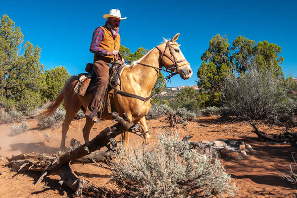 Horseback riding in the Wild West of USA