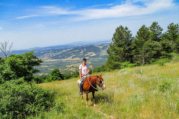 Horseback riding trail in Tuscany