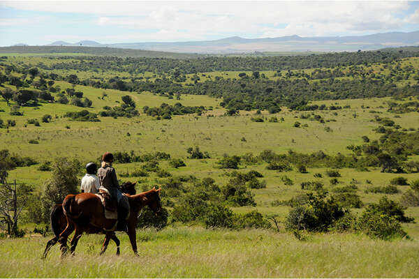Horseback safari in Kenya