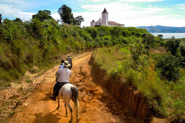Horseback trail in Madagascar