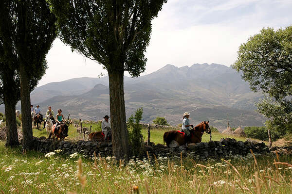 Horseback trail in Spain