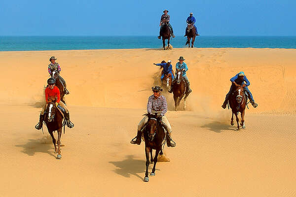 Horseback trail ride in Namibia
