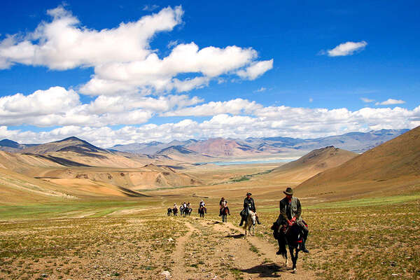 Horseback trail riding holidays in India