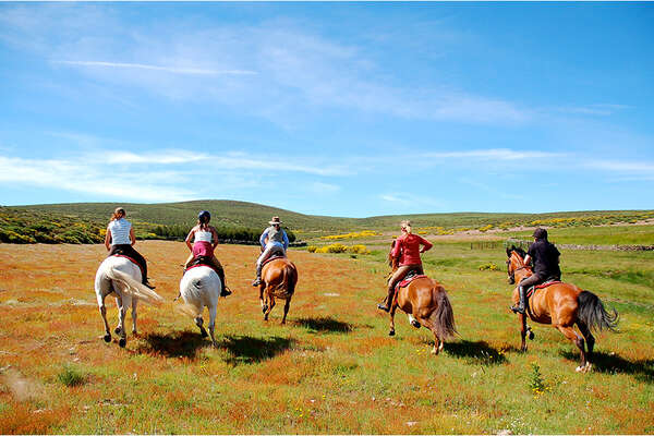 Horseback trails in the Gredos Mountains Spain