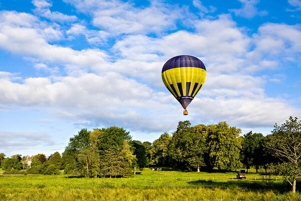 Hot air balloon ride in Monaghan, Castle Leslie