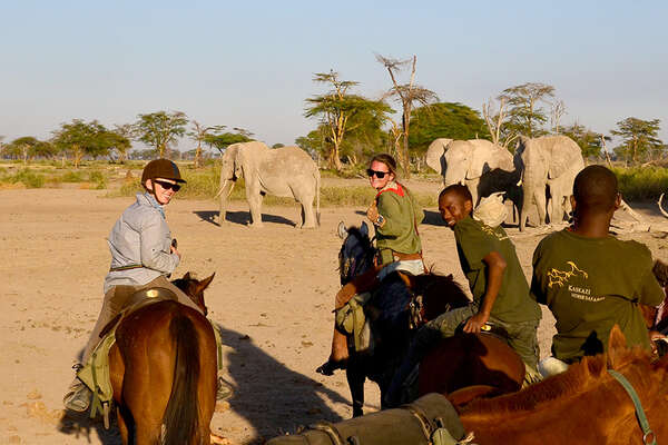 Mobile horseback riding safari in Tanzania