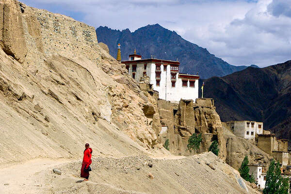 Monastery in Ladakh county in India