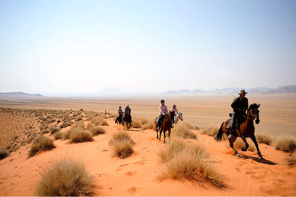 Namib desert on horseback