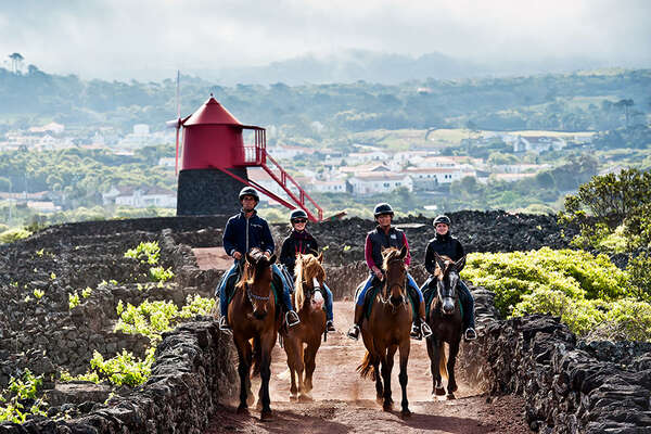 On horseback in Azores