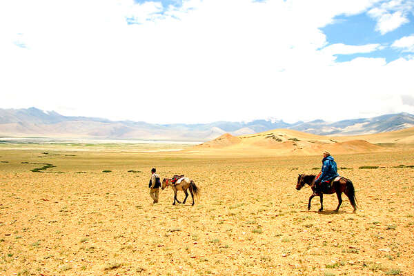 On horseback in Ladakh India