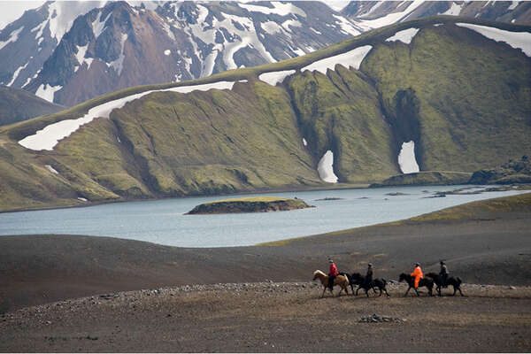 On horseback in southern Iceland